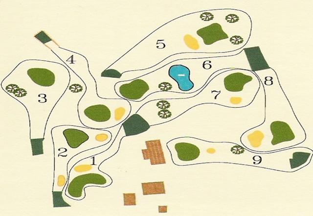 Mapa de Campo de Golf Aldama Golf, Llanes